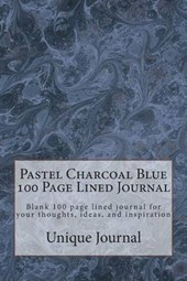 Pastel Charcoal Blue 100 Page Lined Journal