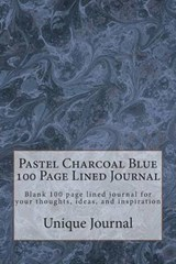 Pastel Charcoal Blue 100 Page Lined Journal | Unique Journal |