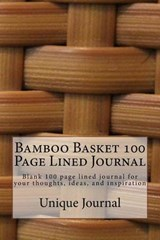 Bamboo Basket 100 Page Lined Journal | Unique Journal |