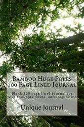 Bamboo Huge Poles 100 Page Lined Journal