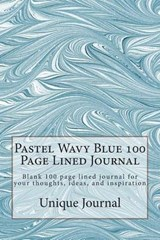 Pastel Wavy Blue 100 Page Lined Journal | Unique Journal |