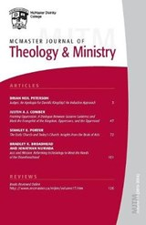 McMaster Journal of Theology and Ministry | auteur onbekend |
