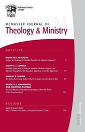 McMaster Journal of Theology and Ministry