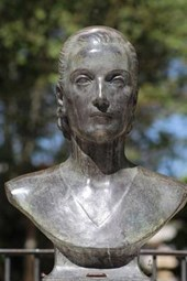 A Bust of Eva Peron in Argentina