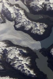 Perito Moreno Glacier in Argentina from Space