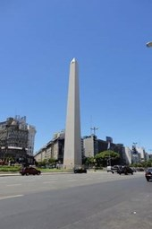 The Obelisk in Buenes Aires, Argentina