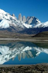 Patagonia Fitz Roy Cerro Torre Mountain Reflected in Argentina