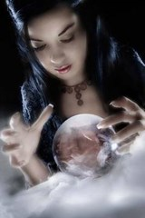 A Sorceress Peering Into Her Crystal Ball | Unique Journal |