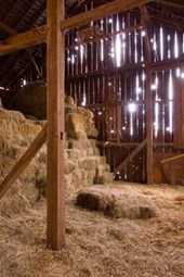 Inside of a Hay Barn