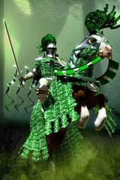 The Green Knight on His Horse