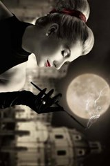 Woman Smoking in the Moonlight | Unique Journal |