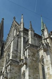 A View of the Cathedral in Regensburg, Bavaria