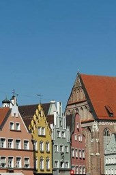 The Colorful Townhomes of Landshut, Bavaria
