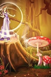A Fairy in the Forest with Mushroom
