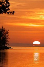 The Sun Sinking Into the Ocean in Key West, Florida