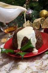 Christmas Pudding with White Sauce Journal | Cool Image |