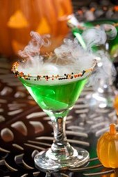 Halloween Drink - Witch Blood Martini Journal