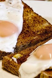 Delicious Fried Eggs and Toast, for the Love of Food