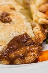 Delicious Plated Meat Pie, for the Love of Food | Unique Journal |