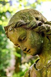 A Stone Angel Garden Sculpture