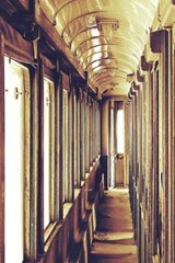 The Hallway of an Abandoned Passenger Train | Unique Journal |