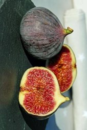 Freshly Halved Figs, for the Love of Food