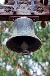 An Antique Brass Church Bell