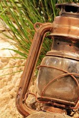 An Antique Rusted Lantern Left at the Beach | Unique Journal |