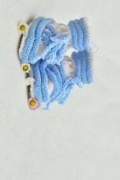 Handmade Newborn Baby Boy Blue Shoes