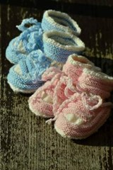 Pink and Blue Baby Shoes Booties | Unique Journal |