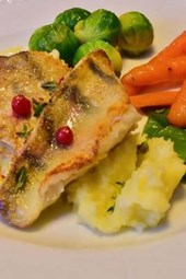 Perch, Mashed Potatoes, and Vegetables, for the Love of Food