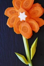 Pretty Flower Made of Carrots