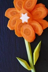 Pretty Flower Made of Carrots | Unique Journal |