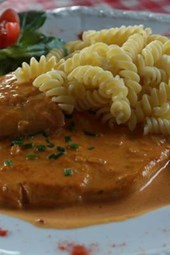 Rahmschnitzel and Noodles, for the Love of Food