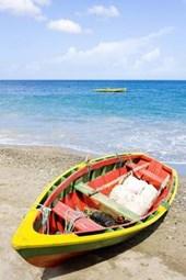 Boat at Gouyave Bay in Grenada Journal