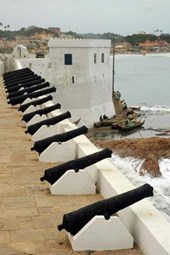 Cannons Along the Wall at Cape Coast Castle in Grenada Journal
