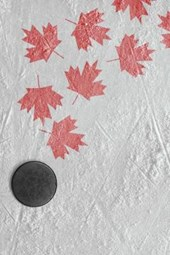 Hockey Puck and Maple Leaves on Ice Journal