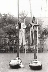 Man & Woman on Stilts with Giant Golf Clubs Journal