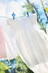 Little Girls Dresses on a Clothesline