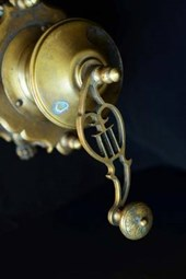 An Antique Brass Crank