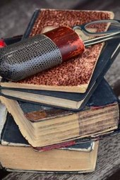 Antique Books and Reading Glasses