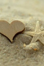 Wooden Heart and a Starfish