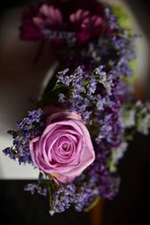 A Bouquet of Different Purple and Blue Flowers
