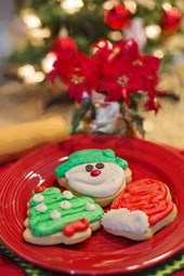 Christmas Cookies Ready for Santa Claus