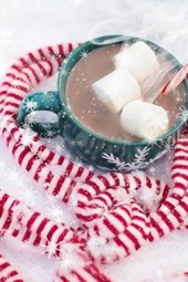 Hot Chocolate and a Candy Cane Scarf, for the Love of Christmas