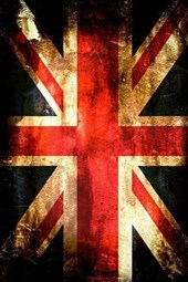 A Painted Union Jack British Flag