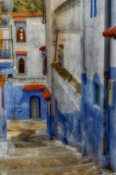 A Painted Narrow Alley in Greece