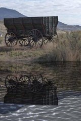 An Old West Wagon Reflected on the Pond | Unique Journal |