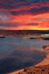 Beautiful Lake Powell, Arizona at Sunset | Unique Journal |