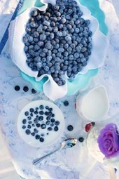 Blueberries and Cream, for the Love of Food
